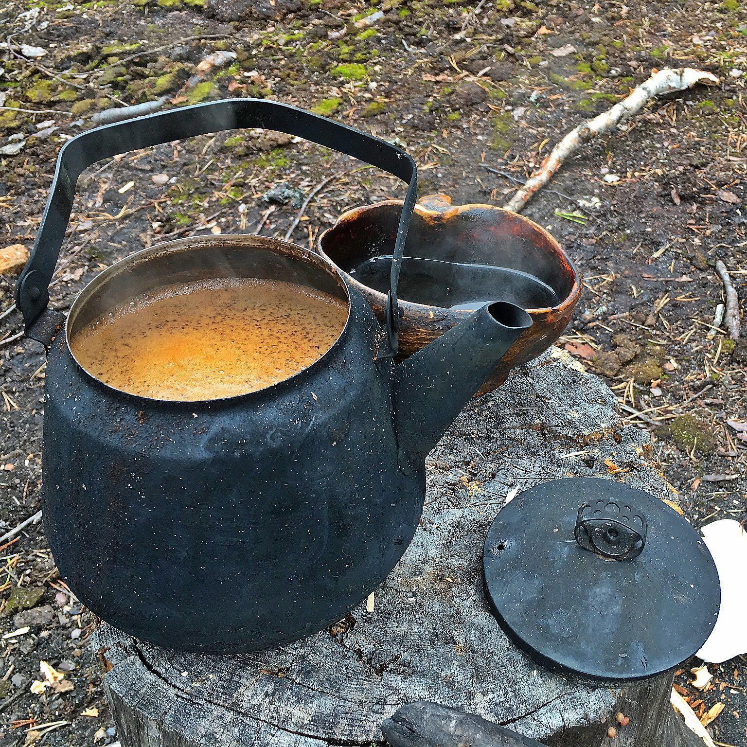 Retkikahvit / Kaffee am Feuer